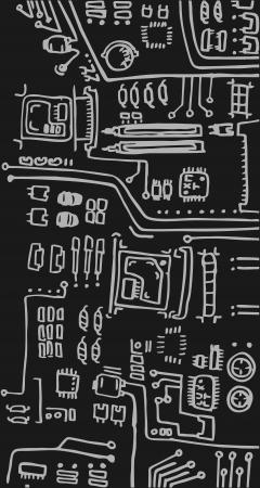 Cartoon tech Stock Vector - 13890574