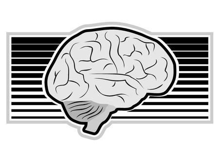 Brain art design Vector