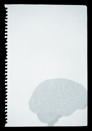 Brain paper draw Stock Vector - 14167820