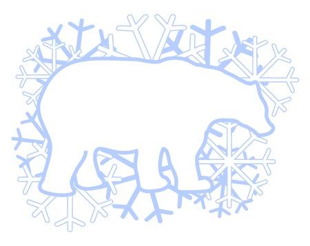 тундра: Творческий белый медведь Иллюстрация