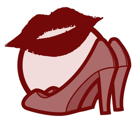 Fashion kiss woman Vector