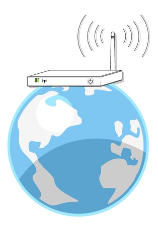 World internet point Stock Vector - 14167832