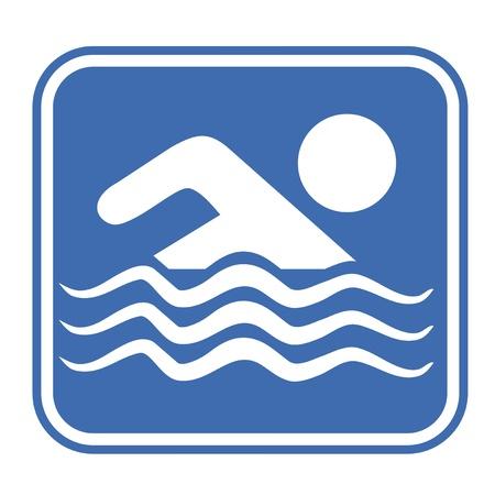 swiming: Swimming pool sign