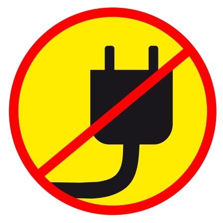 circulate: No electric sign