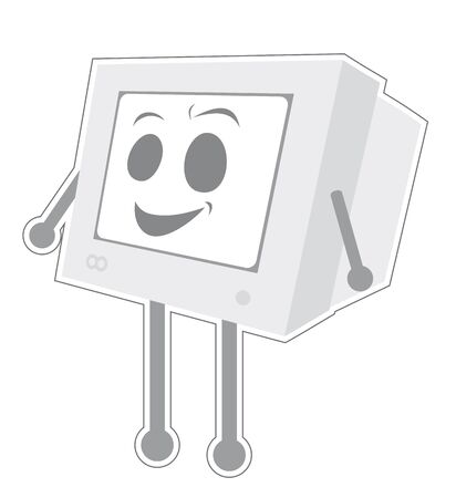 Happy tech Vector