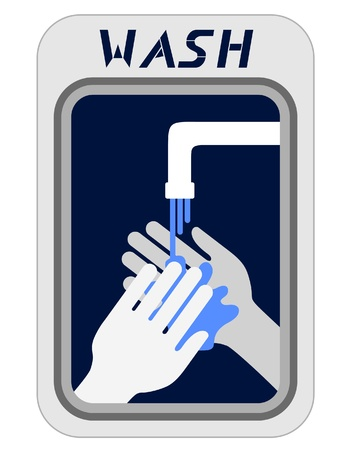 cleanliness: Wash hands Illustration