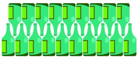 Green bottle design Vector