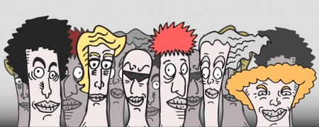 Cartoon team Vector