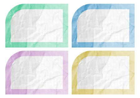 Color art paper style Vector