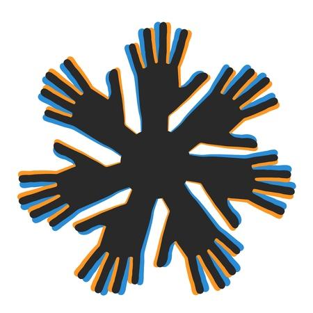 Team hand Vector