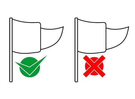 Flag advise Vector