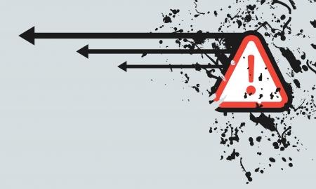 Art arrow exclamation Stock Vector - 14219678