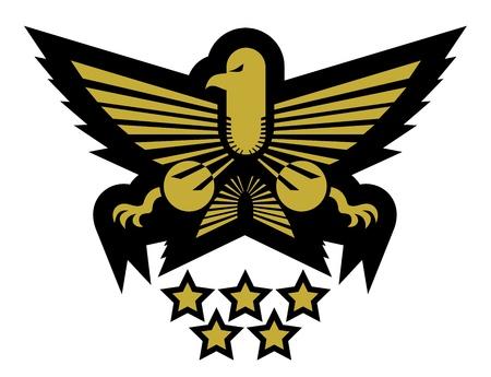 Elegant eagle emblem Vector