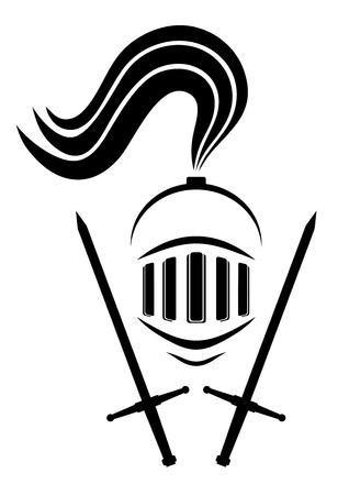 shield and sword: Warrior helmet design