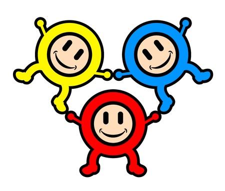 Show kids Stock Vector - 14321061