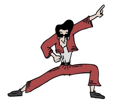 anni settanta: Danza uomo Vettoriali