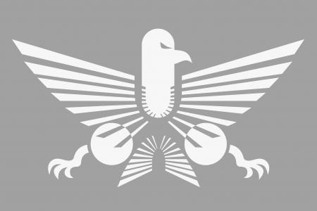 peleando: �guila emblema