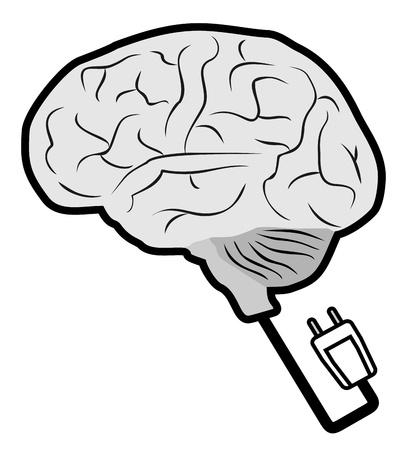 Science brain Stock Illustratie