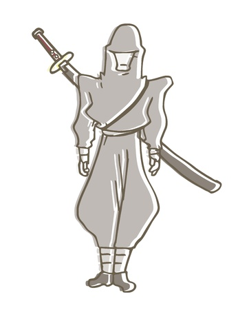 Samurai cartoon Vector