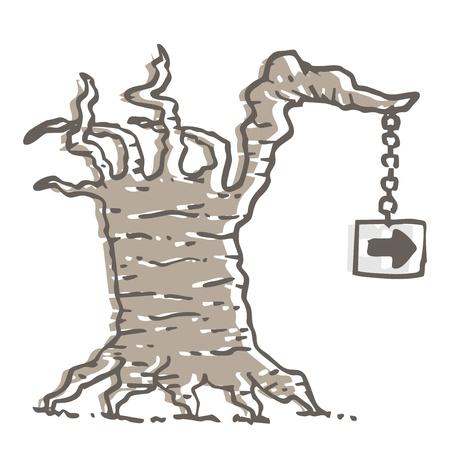Old tree design Vector