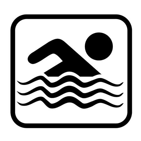 Schwimmen Zeichen