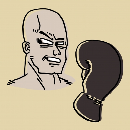 Boxer draw Stock Vector - 14457098