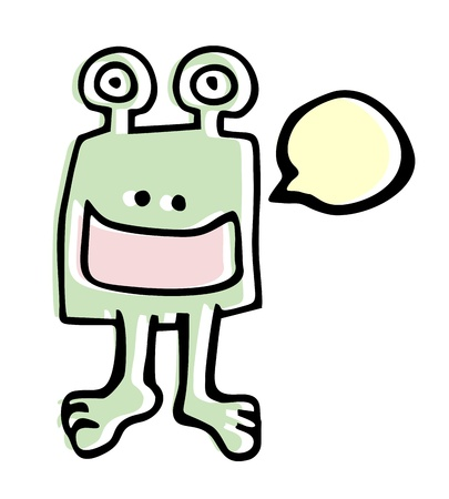 protozoan: Happy cartoon Illustration