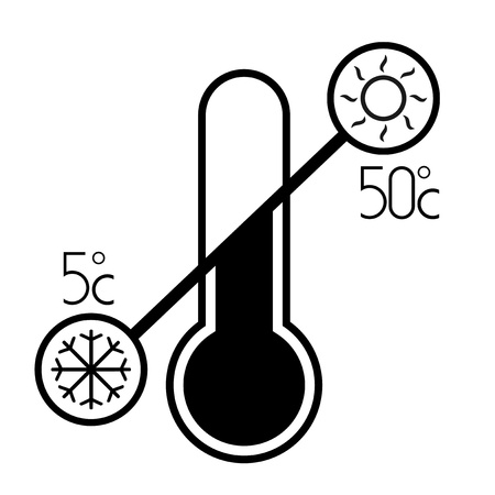 warmly: Temperature sign Illustration