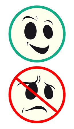 Face signs Stock Vector - 14457075