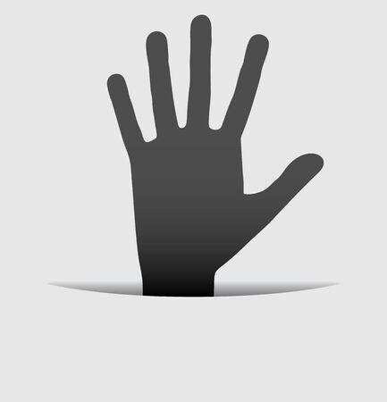 Elegant hand Vector