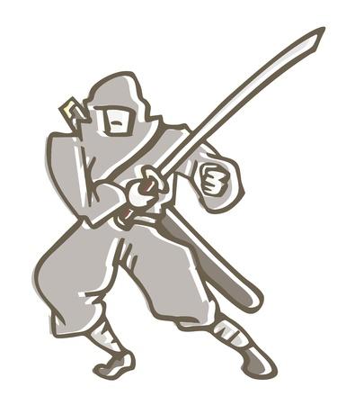 Ninja draw Stock Vector - 14457101