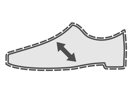 Shoe inflation Vector
