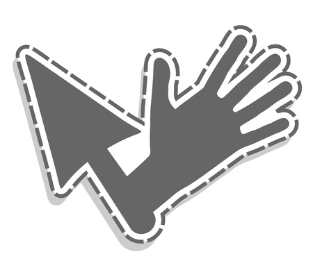 Hand cursor Stock Vector - 14556004
