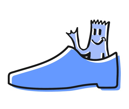 Happy shoe Vector