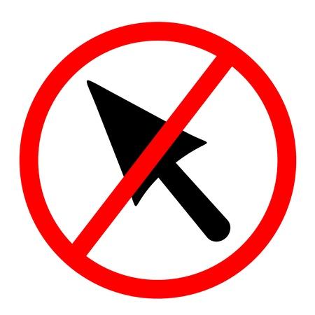 No cursor Stock Vector - 14555933