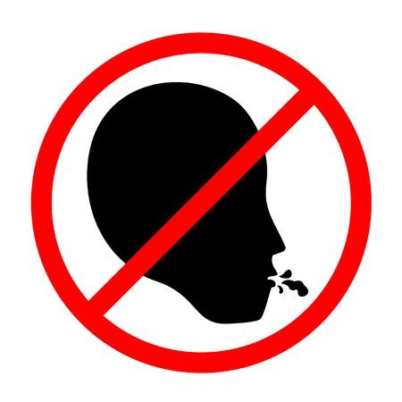 interdiction: Pas de cracher Illustration