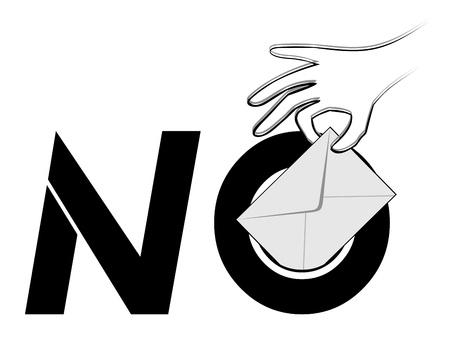 No vote message Vector