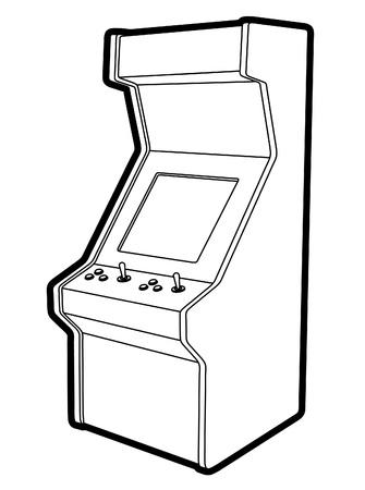レトロなゲーム イラスト  イラスト・ベクター素材
