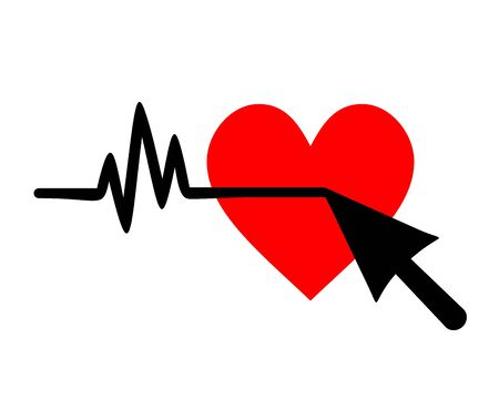 Cardio cursor illustration Stock Vector - 14555937