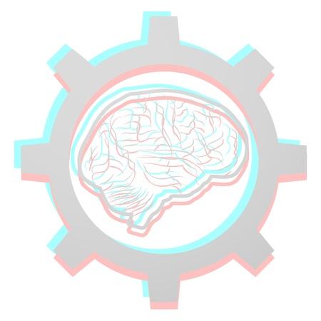 dimensinal: Brain tech Illustration