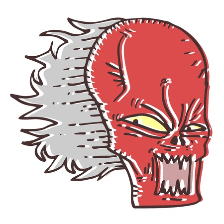 Demon expression Stock Vector - 14654644