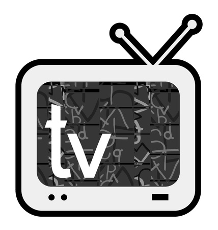 retro tv: Television sign