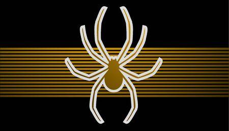Golden spider Vector