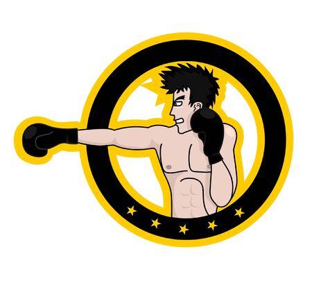 Boxing warrior Vector