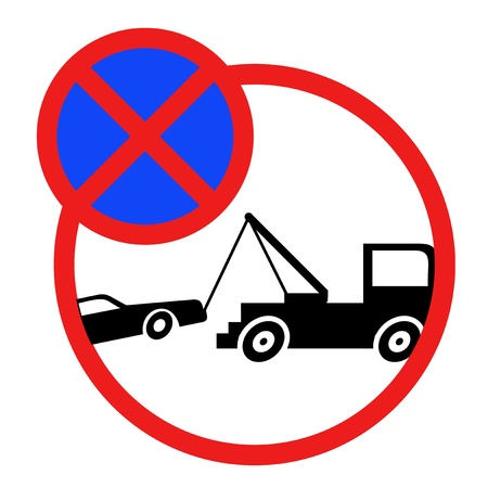 prohibition signs: No parking sign Illustration