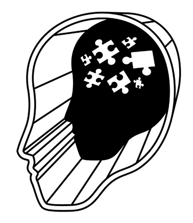 Brain puzzle Stock Vector - 14653499