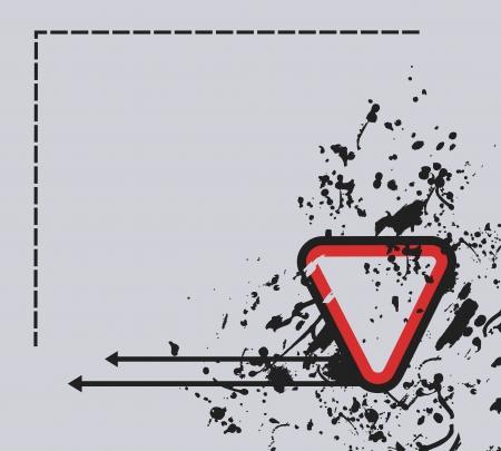 dirt background: Frame dirt background Illustration