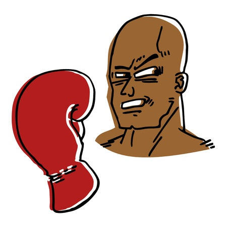 Cartoon boxer Vector