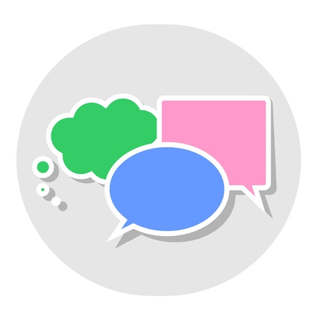 Commentary button Stock Vector - 14744042