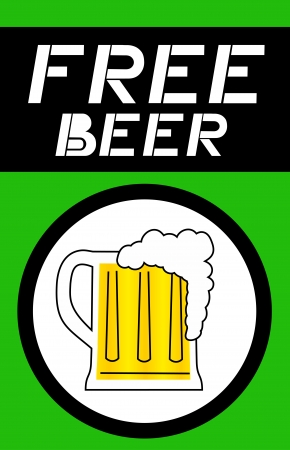 Free beer background Vector